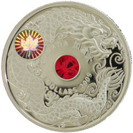 2009 $8 STERLING SILVER MAPLE OF WISDOM HOLOGRAM COIN