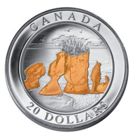 2004 $20 FINE SILVER COIN - HOPEWELL ROCKS