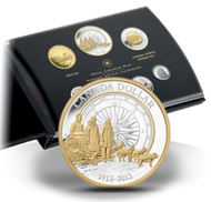 2013 FINE SILVER PROOF DOUBLE DOLLAR COIN SET - 100TH ANN. ARCTIC EXPEDITION