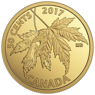 2017 50-CENT PURE GOLD COIN THE SILVER MAPLE LEAF