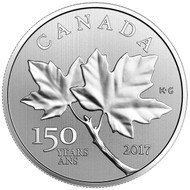 2017 $10 FINE SILVER COIN MAPLE LEAVES