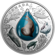 2017 $20 FINE SILVER COIN CANADIAN UNDERWATER LIFE