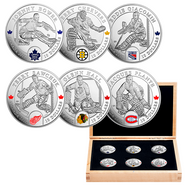 2015 $10 FINE SILVER 6-COIN SET - ORIGINAL SIX™ GOALIES