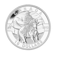 2013 $10 FINE SILVER COIN - O CANADA SERIES - ROYAL CANADIAN MOUNTED POLICE