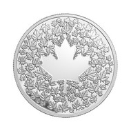 2013 $3 FINE SILVER COIN- MAPLE LEAF IMPRESSION - QUANTITY SOLD: 9820