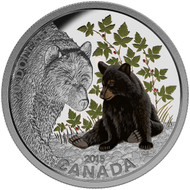 2015 $20 FINE SILVER COIN BABY ANIMALS: BLACK BEAR