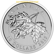 2015 $10 FINE SILVER COIN MAPLE LEAF