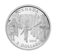 2014 $3 FINE SILVER COIN WAIT FOR ME DADDY