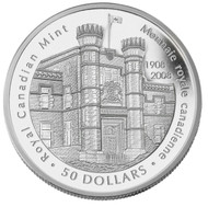 2008 5 OZ SILVER COIN - 100TH ANNIVERSARY OF THE ROYAL CANADIAN MINT