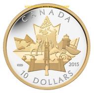 2015 $10 FINE SILVER COIN CELEBRATING CANADA