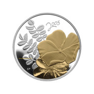 2005 50-CENT STERLING SILVER COIN - GOLDEN ROSE - QUANTITY SOLD: 17,418