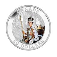 2013 $50 5-OUNCE FINE SILVER COIN - QUEEN'S CORONATION