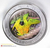 2002 PURE SILVER COIN - ANNIVERSARY LOON HOLOGRAM - QUANTITY SOLD: 29 970
