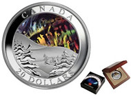 2004 AURORA BOREALIS (NORTHERN LIGHTS) HOLOGRAM COIN