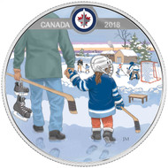 2018 $10 FINE SILVER COIN LEARNING TO PLAY: WINNIPEG JETS