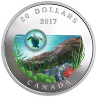 2017 $20 FINE SILVER COIN UNDER THE SEA: SEA TURTLE