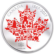 2017 $50 FINE SILVER COIN - CANADIAN ICONS