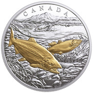 2017 $20 FINE SILVER COIN FROM SEA TO SEA TO SEA: PACIFIC SALMON