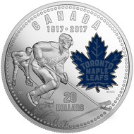 2017 $20 FINE SILVER COIN - 100TH ANNIVERSARY OF THE TORONTO MAPLE LEAFS
