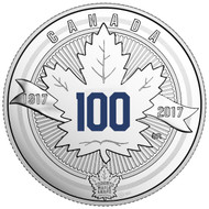 2017 $3 FINE SILVER COIN - 100TH ANNIVERSARY OF THE TORONTO MAPLE LEAFS