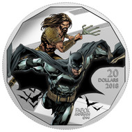 2018 $20 FINE SILVER COIN THE JUSTICE LEAGUE™ : BATMAN AND AQUAMAN