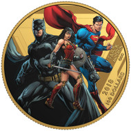 2018 $100 14-KARAT GOLD COIN THE JUSTICE LEAGUE™: UNITED WE STAND