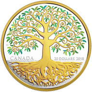 2018 $20 FINE SILVER COIN TREE OF LIFE