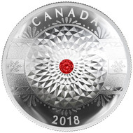 2018 $25 FINE SILVER COIN CLASSIC HOLIDAY ORNAMENT