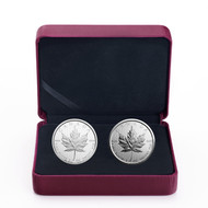 2017 $5 FINE SILVER 2-COIN SET 30TH ANNIVERSARY OF THE SILVER MAPLE LEAF