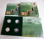1997 50-CENT PROOF 4-COIN SET - DOGS OF CANADA