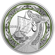 2018 $20 PURE SILVER COIN NORSE FIGUREHEADS: NORTHERN FURY