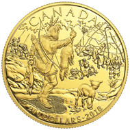 2018 $200 PURE GOLD COIN EARLY CANADIAN HISTORY: FIRST NATIONS