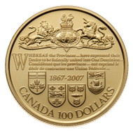2007 14-KARAT GOLD COIN - 140TH ANN. OF THE DOMINION OF CANADA