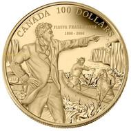 2008 14-KARAT GOLD COIN - 200TH ANN. OF DESCENDING THE FRASER RIVER (1808-2008)