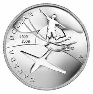 2009 BU SILVER DOLLAR – 100TH ANNIVERSARY OF FLIGHT IN CANADA