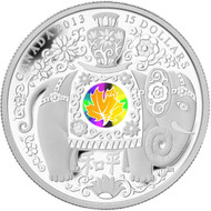 2013 $15 FINE SILVER COIN - MAPLE OF PEACE - QUANTITY SOLD: 7934