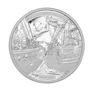 2013 $50 FINE SILVER COIN - HMS SHANNON & USS CHESAPEAKE