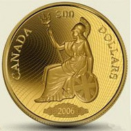 2006 $300 GOLD COIN - THE 1900 SHINPLASTER QUANTITY SOLD: 947