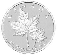 2013 $10 FINE SILVER COIN - MAPLE LEAF
