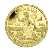 2013 $25 PURE GOLD COIN CANADA: AN ALLEGORY
