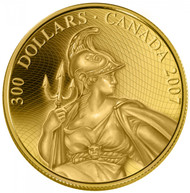 2007 $300 GOLD COIN - THE 1923 SHINPLASTER - QUANTITY SOLD: 786