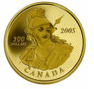 2005 $300 GOLD COIN -1870 SHINPLASTER - QUANTITY SOLD: 994