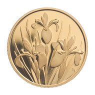 2006 $350 PURE GOLD COIN - BLUE FLAG IRIS VERSICOLOR (QUEBEC'S PROVINCIAL FLOWER) - QUANTITY SOLD: 1995