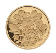 2008 $350 PURE GOLD COIN - PURPLE SAXIFRAGE (NUNAVUT'S TERRITORIES FLOWER) - QUANTITY SOLD: 1,313