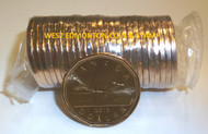 2012 COMPLETE SEALED ROLL OF 25 REGULAR $1 LOONIE COINS