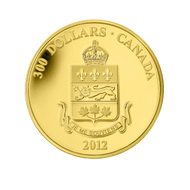 2012 $300 GOLD COIN - QUEBEC COAT OF ARMS SCARCE