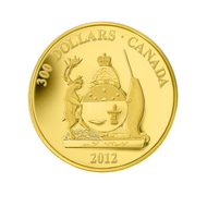 2012 $300 14KT GOLD COIN PROVINCIAL COATS OF ARMS - NUNAVUT