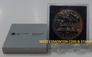 1981 CANADIAN BRILLIANT UNCIRCULATED SILVER DOLLAR - TRANS CANADA RAILWAY CENTENNIAL