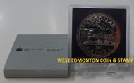 1981 CANADIAN BRILLIANT UNCIRCULATED SILVER DOLLAR - TRANS CANADA RAILWAY CENTENNIAL