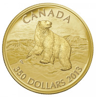 2013 $350 PURE GOLD COIN - ICONIC POLAR BEAR